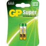Батерии алкални, GP 25A-2UE2, AAAA, 1.5V, 2бр. image
