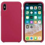 Калъф за Apple iPhone X/XS, силиконов, Soft touch, розов  image