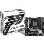 Дънна платка ASRock A320M Pro4, AMD A320, AM4, DDR4, PCI-E(HDMI&DVI), 4x SATA 6Gb/s, 1x Ultra M.2 Socket, 1x M.2 Socket, 1x USB 3.0 Type-C, microATX image