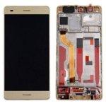 Дисплей за Huawei P9 Plus, LCD, с тъч и рамка, златист image