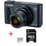 "Canon PowerShot SX740 HS(черен) + Transcend 32GB microSD UHS-I U1 с адаптер, 40x оптично увеличение, 20.3Mpix, 3,0""(7,5 cm) TFT дисплей, Wi-Fi, Bluetooth, SD/SDHC/SDXC слот, USB Micro-B, HDMI Micro  image"