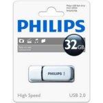 Памет 32GB USB Flash Drive, Philips FM032FD70B, USB 2.0, бяло/черна image