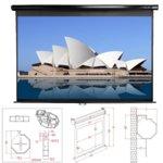 """Екран Elite Screens 150"""" (342.9 cm), 228.6 x 304.8 cm ползваема площ, окачване на стена/таван, 2г. image"""