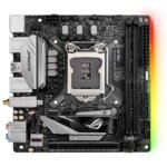 Дънна платка Asus ROG Strix H270I Gaming, H270, LGA1151, DDR4, PCI-E(DP&HDMI), 4x SATA 6Gb/s, 2x M.2 sockets, 6x USB 3.1 Gen1, 2x LAN, Wi-Fi/Bluetooth, Asus Aura RGB подсветка, miniITX image