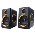Тонколона T005, 2.0, 2x3W, 90Hz-20kHz, черни, 3.5mm стерео мъжки аудиоконектор за входящ аудиосигнал image
