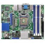 Дънна платка за сървър ASRock Rack E3C224D4I-14S, LGA1150, DDR3 ECC UDIMM, 2x LAN1000, 4x SATA 6Gb/s, 2x SATA 3Gb/s, RAID 0, 1, 5, 10, 2x USB 3.0, Extended mini ITX image