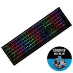 Клавиатура Ducky Shine 7 Gunmetal Gray RGB, гейминг, механична (Cherry MX Blue), черна, USB image