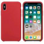 Калъф за Apple iPhone XS, силиконов, Soft touch, червен image