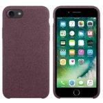 Калъф за Apple iPhone 7/8, силиконов с текстил, Hiha, розов image