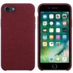 Калъф за Apple iPhone 7/8, силиконов с текстил, Hiha, червен image