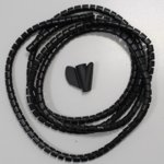 Шлаух спирала P00080583-002, полиетиленова, 10mm диаметър, 2m дължина, черна, Bulk image
