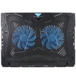 Охлаждаща поставка за лаптоп TeckNet N9 за Mac и преносими компютри, 2 вентилаторa, LED дисплей, черна image