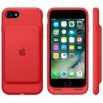 Калъф за Apple iPhone 7, Smart Battery Case, еластомер, Apple, с вградена батерия, червен image