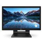 """Монитор Philips 222B9T, (222B9T/00), 21.5"""" (54.61 cm) TN сензорен панел, Full HD, 2 ms, 50 000 000:1, 250cd/m2, Display Port, HDMI, DVI-D, VGA, 2 x USB 3.1 image"""