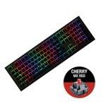 Клавиатура Ducky Shine 7 Gunmetal Gray RGB, Cherry MX Red, механична, RGB подсветка, черна image