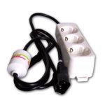 Разклонител за UPS, 3 гнезда, защита от токови удари, 1m. image