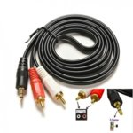Кабел Digital One SS000035, от 3.5mm Jack(м) към 2x RCA Chinch(м), 1.5m, черен image