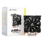 Охлаждане за процесор Antec A400 RGB, съвместимост със сокети LGA 775/1150/1151/1155/1156/ 1366/2011/2066 & AMD FM2/FM1/AM3+/AM3/AM2+/AM2/AM4 image