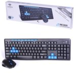 Комплект клавиатура и мишка HK-3800 wireless, безжични, черни image