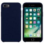 Калъф за Apple iPhone 7/8, силиконов с текстил, Hiha, син image