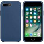 Калъф за Apple iPhone 7/8 Plus, силиконов, Soft touch, син  image