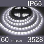 LED лента WFS3528-60CW, 4.8W/m, DC 12V, IP65, студено бяла, 5m image