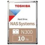 """10TB Toshiba N300 NAS, SATA 6Gb/s, 7200 rpm, 256MB, 3.5"""" (8.89cm), Bulk image"""