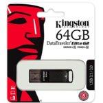 64GB USB Flash Drive, Kingston DataTraveler Elite G2, USB 3.1, черна image