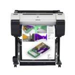"""Плотер Canon imagePROGRAF iPF670 в комплект със стенд Canon ST-27, клас 5-цветен 24"""" (609.6 mm), 2400x1200 dpi, LAN 10/100/1000 Base-T/TX, USB, A1 image"""