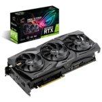 Видео карта Nvidia GeForce RTX 2080, 8GB, Asus ROG Strix RTX 2080 OC, PCI-E 3.0, GDDR6, 256 bit, 2x Display Port, 2x HDMI, 1x USB Type C, Real Time Ray Tracing технология, Aura Sync RGB подсветка image