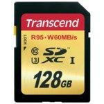 128GB SDXC, Transcend, Class 10 UHS-I U3, скорост на четене 95MB/s, скорост на запис 60MB/s image