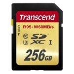 256GB SDXC, Transcend Ultimate, Class 10 UHS-I, скорост на четене 95MB/s, скорост на запис 60MB/s image