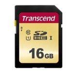 16GB SDHC, Transcend 500S, Class 10 UHS-I, скорост на четене 95MB/s, скорост на запис 65MB/s image
