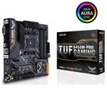 Дънна платка ASUS TUF B450M-PRO GAMING, B450, AM4, DDR4, PCI-E (HDMI&DVI&VGA)(CFX), 4x SATA 6Gb/s, 1x M.2 Socket, 1x USB 3.1 (Gen 2), micro-ATX image