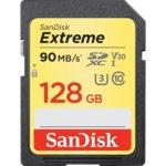 128GB SDXC, SanDisk Extreme, Class 10, UHS-I, V30, скорост на четене 90MB/s read, скорост на запис 60MB/s image