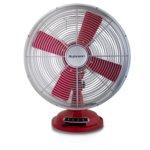 Настолен вентилатор Rohnson R-866, 37W, 30 cm диаметър, класически ретро дизайн, защита от прегряване на двигателя, червен image