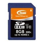 8GB SDHC, Team Group, Class 10 UHS-I, скорост на четене 40MB/s, скорост на запис 15MB/s image