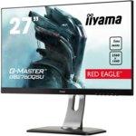 "Монитор Iiyama Prolite GB2760QSU-B1, 27""(68.58 cm) TN панел, Full HD, 1ms, 12 000 000:1, 350 cd/m2, Display port, HDMI, DVI, VGA image"