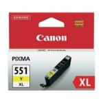 ГЛАВА CANON PIXMA IP7250/iP8750/iP8750/iX6850/MG5450/MG6350/MG6450/MG6650/MG7150/MG7550/MX725/MX925 - Yellow ink tank - CLI-551XLY - P№ 6446B001 - заб.: 650p image