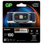 Челник GP Batteries CH33, алкални батерии, 100lm, нощно виждане, водоустойчив, черен image