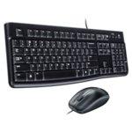 Комплект клавиатура и мишка Logitech Desktop MK120, черни, USB, кирилизирана по БДС image