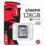 128GB SDXC, Kingston, Class 10 UHS-I, скорост на четене 45MB/sec, скорост на запис 10MB/s image