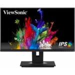 """Монитор ViewSonic VG2455, 23.8"""" (60.45 cm) IPS панел, Full HD, 5ms, 50000000:1, 250 cd/m2, DisplayPort, HDMI, VGA image"""