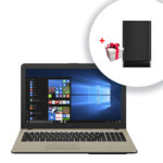 "Лаптоп Asus VivoBook 15 X540NA-GQ063 (90NB0HG1-M02510) с подарък ZenPower Slim 4000mAh, двуядрен Apollo Lake Intel Celeron N3350 1.1/2.4GHz, 15.6"" (39.62 cm) HD Anti-Glare Display, (HDMI), 4GB, 1TB HDD, 1x USB 3.0, Linux, 2.00 kg image"
