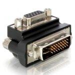 Адаптер DeLock, от VGA(ж) към DVI(м), 90°, черен image