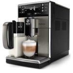 Aвтоматична еспресо кафемашина Philips Saeco GranBaristo, 1.8L резервоар за вода, 10 напитки, вградена кана за мляко, неръждаема стомана, AquaClean, черна image