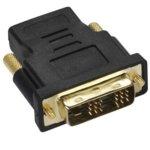 Преходник Vivanco 47074 Адаптер, HDMI(ж) към DVI(м), черен image
