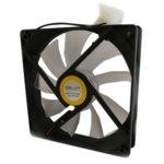 Вентилатор 120mm за кутия Delux CF4, 4pin, 1500rpm, прозрачен, бяла LED подсветка image
