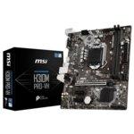 Дънна платка MSI H310M PRO-VH, H310, LGA1151, DDR4, PCI-Е (VGA&HDMI), 4x SATA 6Gb/s, 4x USB 3.1 (Gen 1, Type-A), m-ATX image