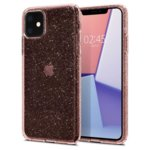 Калъф за Apple iPhone 11, термополиуретанов, Spigen Liquid Crystal Glitter 076CS27182, розов image
